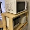 電子レンジラック収納状態写真