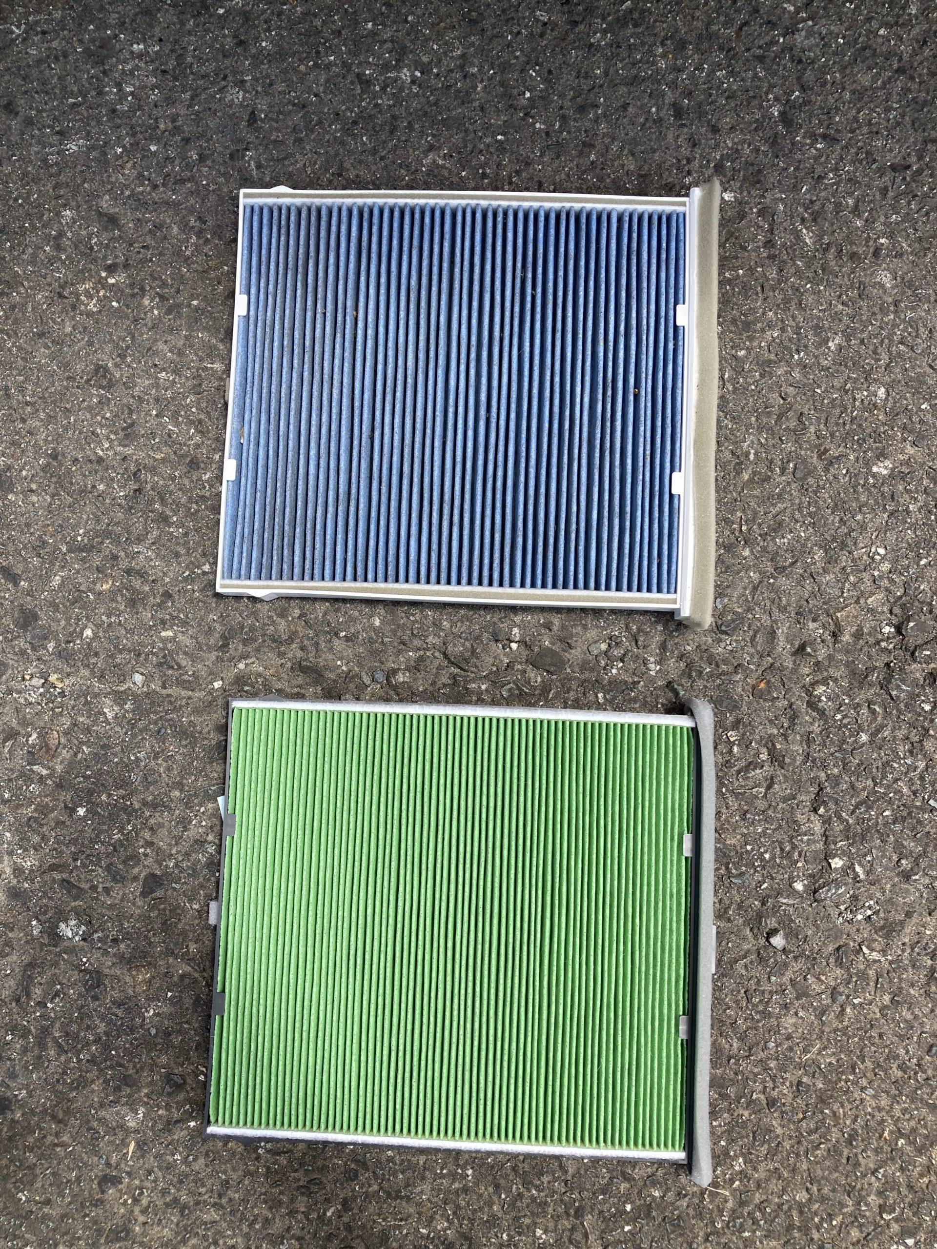 エアコンフィルタの比較写真